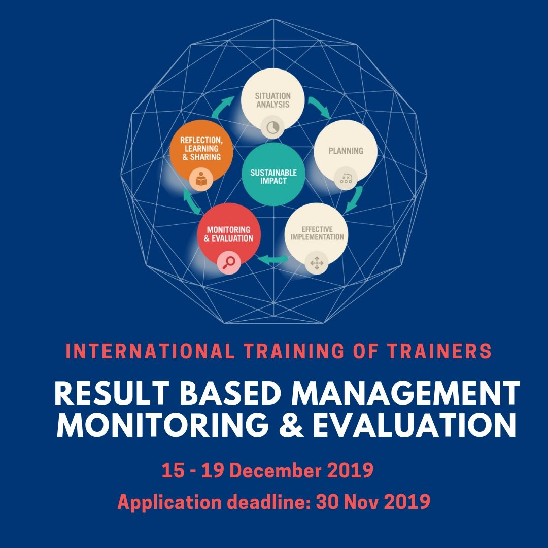 5-Day Training of Traininers on Results Based Management Monitoring and Evaluation