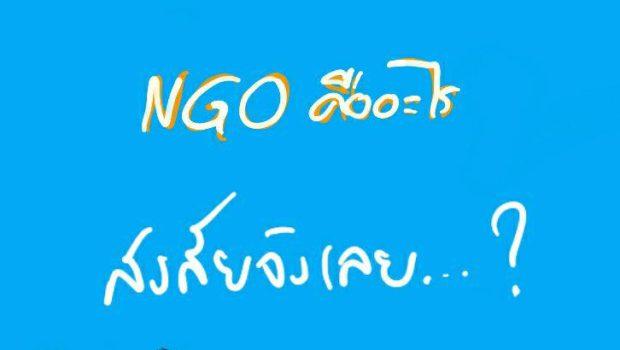NGOs คืออะไร?