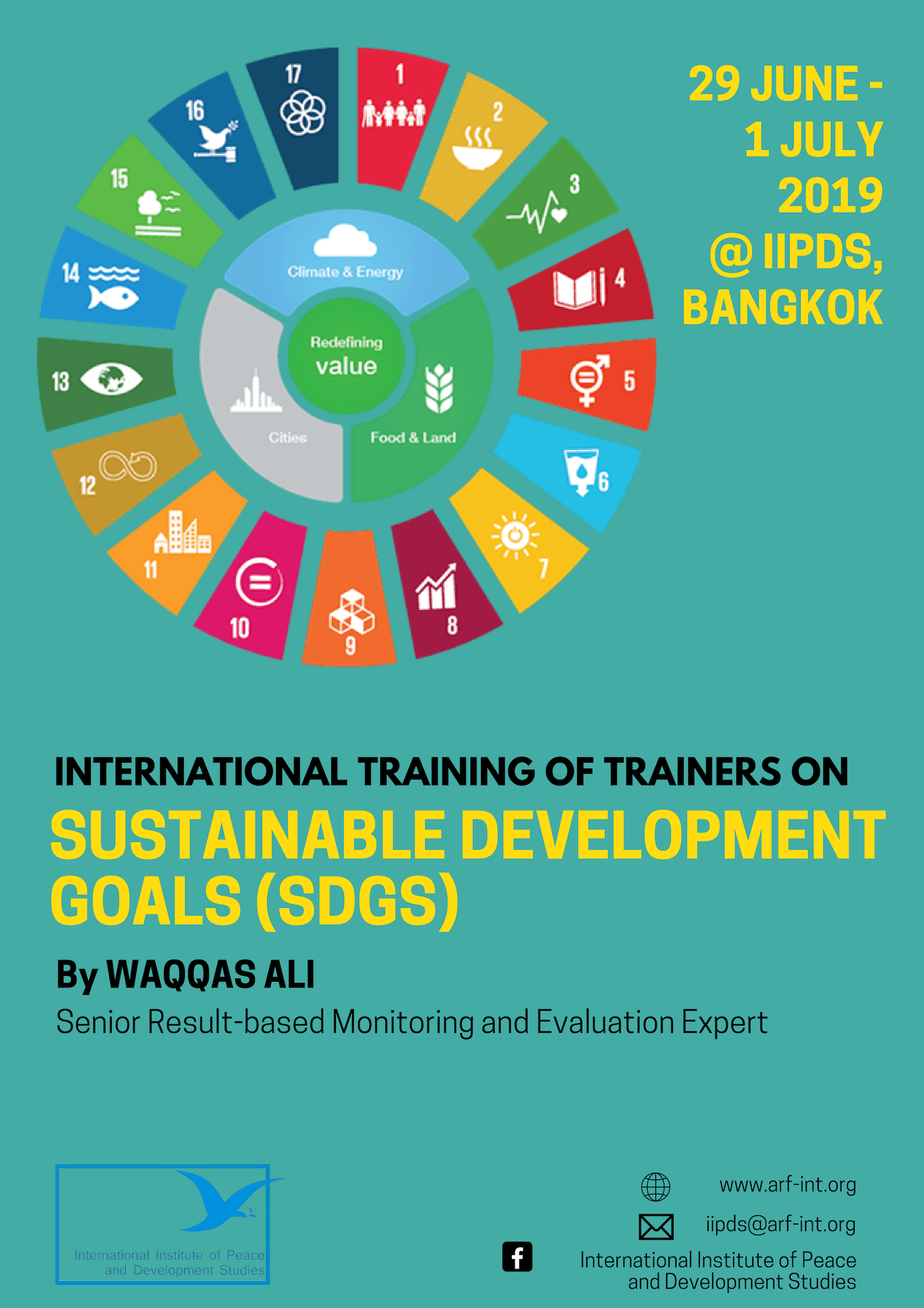 International Training of Trainers on Sustainable Development Goals (SDGs)