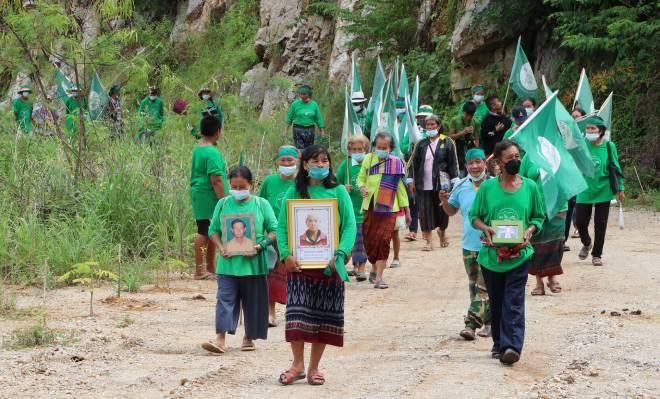 ชาวบ้านกลุ่มอนุรักษ์ป่าชุมชนฯเฉลิมฉลอง 1 ปีชัยชนะในการปิดเหมืองหินและโรงโม่ได้สำเร็จ