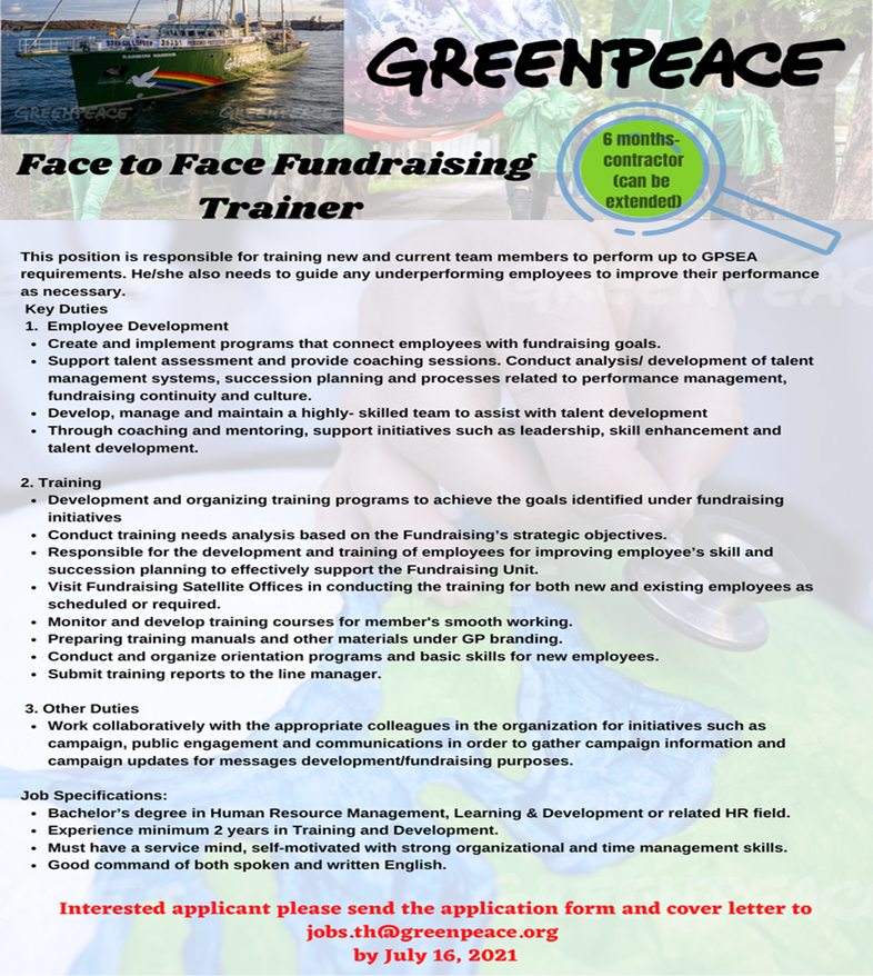 Face to Face Fundraising Trainer